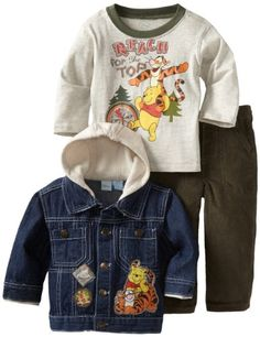Disney Baby-Boys Infant 3 Piece Winnie The Pooh And Tigger Denim Jacket Set, Open Beige, 12 Months Disney,http://www.amazon.com/dp/B008S6NTCY/ref=cm_sw_r_pi_dp_ggC7rb17XPHB9Q19