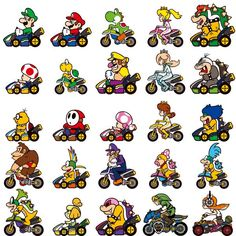 Mario Kart 8 Deluxe website updated with a bunch of screens, videos, and art - NeoGAF Super Mario Bros, Super Nintendo, Super Mario Smash, Mundo Super Mario, Super Mario Brothers, Super Smash Bros, Pixel Art Mario, Mario Kart Characters, Image Pixel Art