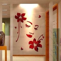 Online Shop Romantic three-dimensional acrylic wall stickers decoration living room home decor bedroom decorative wall paper sticker