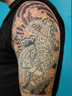 Jeffery Page Leopard tattoo