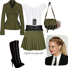 """Military Inspired Office Outfit"" by stephanie-jozwiak on Polyvore"