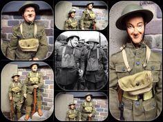 1 6 Stan Laurel Oliver Hardy WWI Army Figures Ollie Dolls Sideshow Custom DVD | eBay Stan Laurel Oliver Hardy, Sideshow, Wwi, Military Jacket, Army, Dolls, Best Deals, Lean Body, Gi Joe
