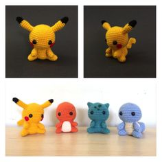 Pikachu amigurumi from 53stitches.tumblr.com. Aurora would loooove these. Maybe for her birthday?
