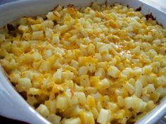 Cracker Barrel Hash Browns Copycat Casserole Recipe.  Perfect for family breakfasts and brunch.  Thanks @Chef Chöich.