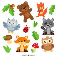 Animais caricaturas embalar