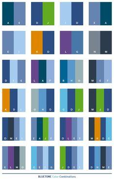 Color combinations.