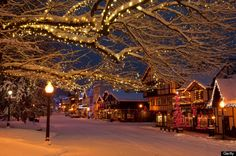 Leavenworth, Washington *It's a fun train trip from Seattle for Christmas!