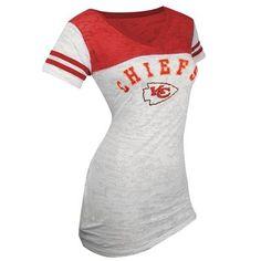 Touch by Alyssa Milano Kansas City Chiefs 50/50 Burnout T-Shirt