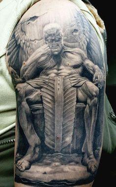 Tattoo Artist - Erich Rabel - devil tattoo | www.worldtattoogallery.com
