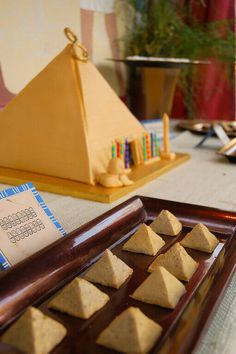 Real Parties:  An Egyptology/Archaeology Excursion (Part 2, the Desserts!) Egyptian Themed Party, How To Make Marzipan, Indiana Jones Party, Egyptian Food, Egyptian Crafts, Love Teacher, Thinking Day, Birthday Parties, 8th Birthday