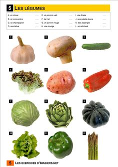 vegetable match up 2 beginners French Teacher, Teaching French, French Cooking Recipes, Early French, French For Beginners, French Classroom, French Resources, French Immersion, Family Roots
