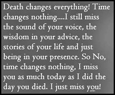 Death changes everything love quotes quote miss you sad death family quotes sad quotes in memory instagram quotes
