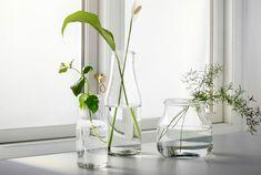 IKEA Blumenvasen und Dekoschalen wie z. B. OLIK Vase in verschiedenen Farben