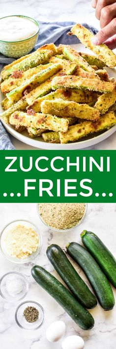Side Dish Recipes, Easy Dinner Recipes, Breakfast Recipes, Easy Meals, Veggie Fries, Zucchini Fries, Best Appetizers, Appetizer Recipes, Snack Recipes