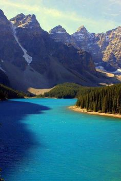 Moraine Lake, Banff National Park, Canada--one of the prettiest destinations I've visited Places Around The World, Places To See, Oh The Places You'll Go, Around The Worlds, Beautiful World, Beautiful Places, Banff National Park Canada, Parks Canada, Canada Canada