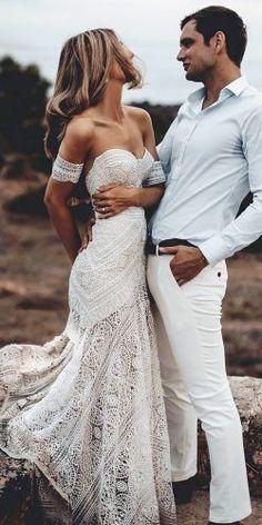 29ea55fa61d4 rue de seine wedding dresses sweetheart off the shoulder boho delicate lace  sexy Wedding Gowns,