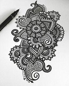 Pin by madhumitha k on beatiful doodle art, mandala drawing, art. Mandala Art, Mandalas Painting, Mandalas Drawing, Doodling Art, Mandala Doodle, Paisley Doodle, Henna Mandala, Black And White Art Drawing, Black And White Doodle