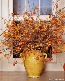 2805: Fall Decorating - note:  Makes me anxious for a fall trip to the mountains to see the colors and bring back bunches of bittersweet!
