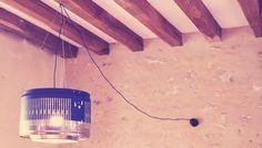 lampe diy recup en tambour machine à laver upcycling