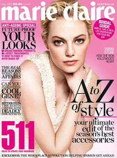 Emma Stone for Marie Claire Australia May 2013 | FashionMention