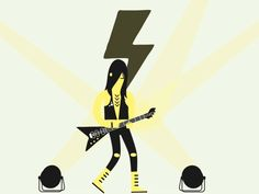 Metal guitarist designed by Matteo Ruffinengo. Connect with them on Dribbble; Optical Illusion Gif, Optical Illusions, Neon Room, Image Icon, Music Images, Motion Graphics, Animated Gif, Gifs, Animation
