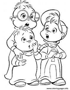 Print Coloring Pages Of Alvin And The Chipmunks