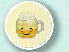 Refreshing Beer. Cross Stitch PDF Pattern por andwabisabi en Etsy