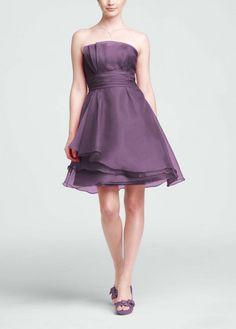 5762b452f30 Strapless organza A-Line dress is elegant and feminine