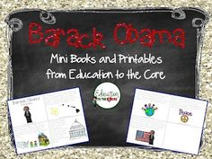 Education to the Core: Barack Obama Mini-Unit.  Integrate Social Studies into your reading block! $ Includes printables to target sequencing and cause and effect skills!