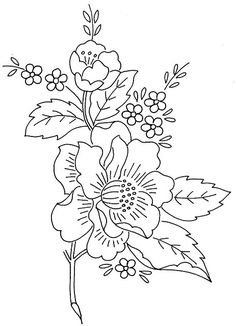 COLOUR IT, SEW IT, TRACE IT, ETC. flower spray 1 | Flickr - Photo Sharing!