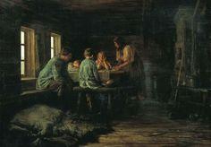 Василий Максимович Максимов. Бедный ужин .1879 год