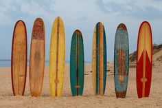 Vintage Surfboards. painting box: THAT SUMMER FEELING