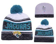 aaf14cd3a73 Men s   Women s Jacksonville Jaguars New Era 2016 NFL Snow Dayz Knit Pom  Pom Beanie Hat - White   Black   Green