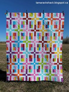 Lori made the Highway 10 Designs City Slicker quilt using bright blender fabrics and a white background. Pattern Blocks, Quilt Patterns, Block Patterns, Sew Kind Of Wonderful, Dresden Quilt, City Slickers, Charm Quilt, Batik Quilts, Rose City