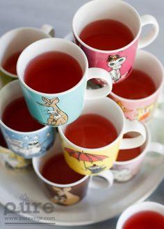 Moomin mugs, Arabia - Iittala, form Teema by Kaj Franck Finland Moomin Mugs, Moomin Valley, Fresh Fruits And Vegetables, Finland, Tea Time, Dinnerware, Scandinavian, Blog, Dishes