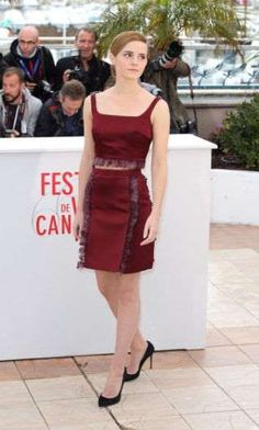 In Christopher Kane at a photocall for The Bling Ring in Cannes. - Provided by ELLE