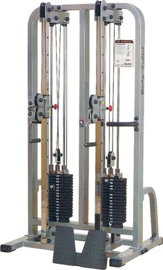 Body Solid Pro Clubline SDC2000G/1 Dual Cable Column Machine, Silver Bodybuilder, Home Gym Garage, Lat Pulldown, Gym Interior, Weight Machine, Smith Machine, Fitness Gym, Power Rack, Personal Defense