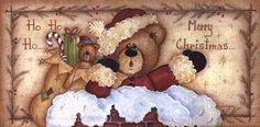 Ho, Ho, Ho . . . Merry Christmas, Art Print by Mary Ann June