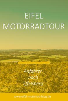 EIFEL MOTORRAD TOUR - Anfahren nach Effelsberg /// Diese Eifel Motorradtour führt Euch vom unteren Ahrtal über das Sahrbachtal hinauf zum Radioteleskop Effelsberg und über Schuld wieder zurück... Eifel, Blog, New Motorcycles, Blame, Tours, Vacation, Blogging