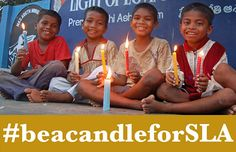 'The problem is very big but it is better to light a candle rather than blame the darkness.' The happiness on these children's faces belies the destitution they faced before being rescued by the Light of Love Home & School at Tuni in India. Help share the campaign #beacandleforSLA. www.sla-india.org