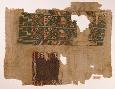 Fragment of a Sleeve Object Name: Fragment Date: 6th century Geography: Egypt Culture: Coptic Medium: Wool, linen; plain weave, tapestry weave Dimensions: 11.75 in. high 9.25 in. wide (29.84 cm high 23.49 cm wide) Classification: Textiles