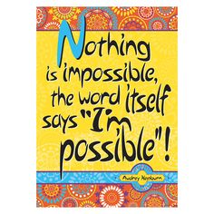 """Light up your classroom, home or office with Barker Creek's motivational posters! Measuring 13 3/8"""" x 19"""" and printed on durable, 12pt paper; you can hang it """"as is"""" or frame it for a motivational wor"""