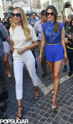Candace Swanepoel and Alessandra Ambrosio at Victoria's Secret Party