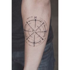 Custom design compass for today #tattoo #ink #compasstattoo #fineliner