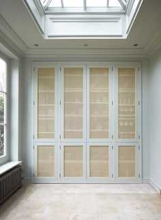 Bespoke rattan cupboard doors by Studio Wilson Copp - Ideen rund ums Haus - Design Rattan Furniture Architecture Design, Kitchen Pantry Cabinets, Closet Doors, Pantry Doors, Diy Cupboard Doors, Baby Cupboard, Larder Cupboard, Cupboard Ideas, Cupboard Storage