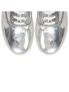 13776751c79 Comme Des Garcons SHIRT Generic Man Patent Low Shoe Silver シルバーシューズ