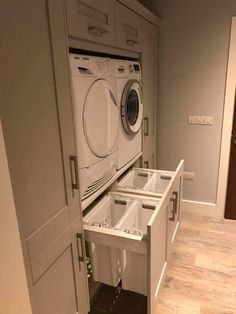 perfect, no bending over! can even be in an upstairs hallway if th appliances are concealed