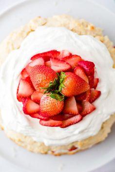 Strawberry Shortcake - an Easy Dessert recipe   Boulder Locavore® Fresh Strawberry Pie, Strawberry Filling, Strawberry Cakes, Strawberry Shortcake, Sweet Whipped Cream, Whipped Cream Frosting, Whipped Topping, Impressive Desserts, Easy Desserts