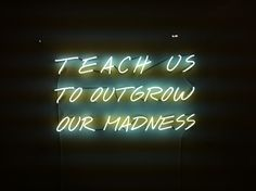 Alfredo Jaar: Teach Us To Outgrow Our Madness Great need to express ourselves with bold colorful neon words!!