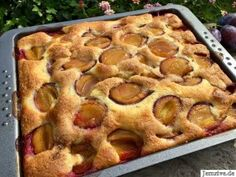 Plum cake with buttermilk - from my cake and Rice Krispie Treats, Rice Krispies, Rice Recipes For Dinner, Puff Pastry Recipes, Savory Pastry, Choux Pastry, Plum Cake, Cake Blog, Evening Meals